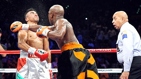 Floyd Mayweather Jr. and Victor Ortiz