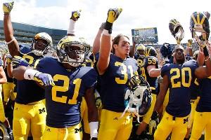 Michigan celebrates its win