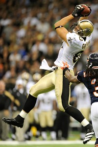 Stacy Revere/Getty Images Jimmy Graham provides a big target for