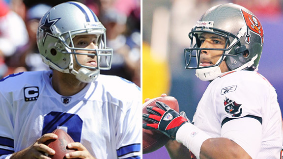 Tony Romo and Josh Freeman