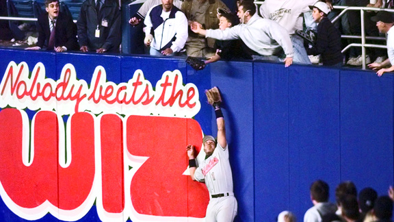With the help of Jeffrey Maier, Derek Jeter's home run was one of his four hits in the game.