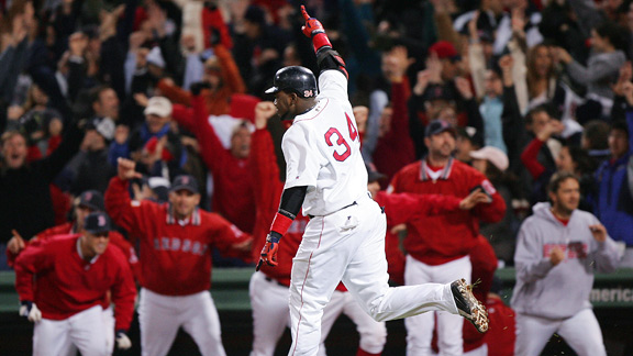 David Ortiz's walk-off homer in the 12th was only the beginning for the Red Sox, who won the next three as well.