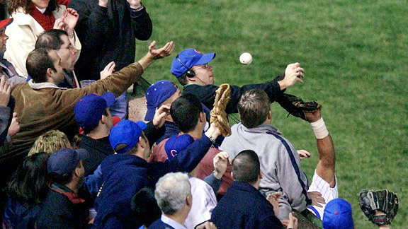 Steve Bartman helped extend Luis Castillo's at-bat and the Cubs' history of postseason misery.