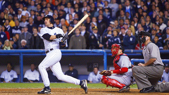 Aaron Boone connected for only the fifth series-clinching home run in MLB postseason history.