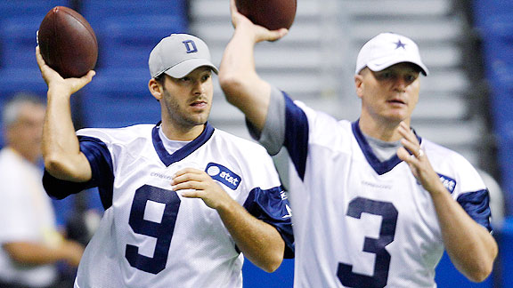 Tony Romo and Jon Kitna