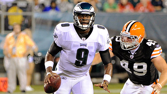Vince Young of the Philadelphia Eagles
