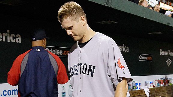 Jonathan Papelbon after losing to the Orioles in 2011
