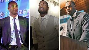 Kobe Bryant, Dwyane Wade and LeBron James
