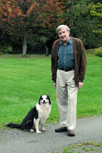Ken Squier and dog