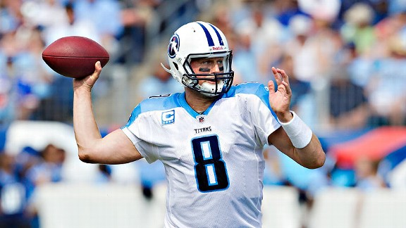 Matt Hasselbeck has eight TD passes through four games with Tennessee this season.
