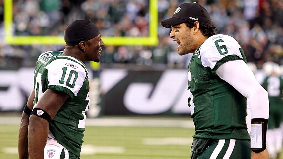 Mark Sanchez and Santonio Holmes