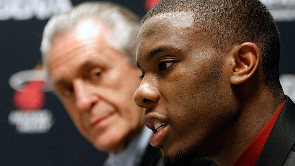 Norris Cole and Pat Riley