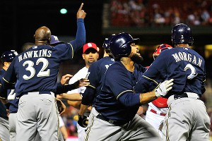 Brewers and Cardinals fight
