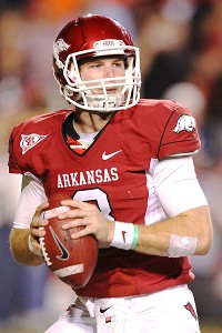 Arkansas Razorbacks quarterback Tyler Wilson