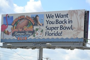 The Tampa Bay Host committee is hoping to sway 2015 Super Bowl voters with billboards on the interstate.