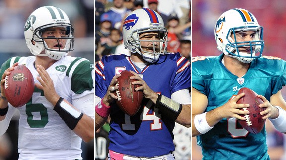 Mark Sanchez, Ryan Fitzpatrick and Matt Moore
