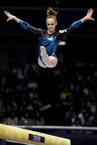 Russia counted a fall on beam and ended up second overall.