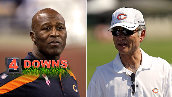 Lovie Smith and Jerry Angelo