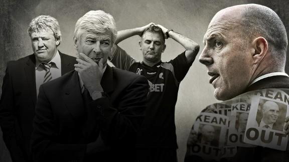 Steve Kean, Owen Coyle, Steve Bruce, and Arsene Wenger