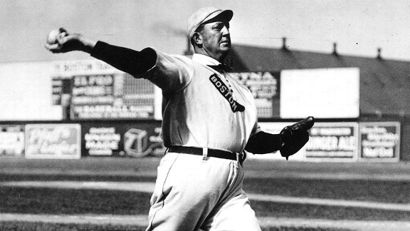 Boston's Cy Young, who threw the first pitch ever in World Series history, started three games for the Americans, going 2-1 with a 1.85 ERA.