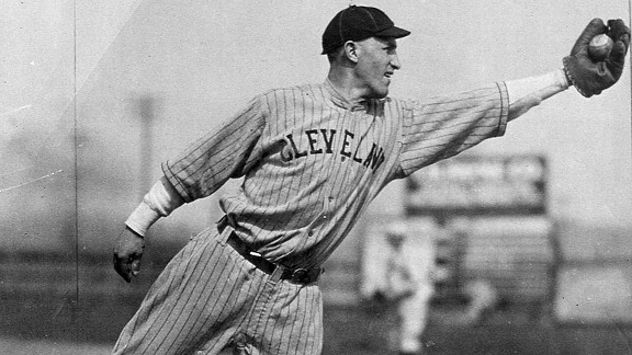 Bill Wamsganss' unassisted triple play, one of eight in major league history, came in the fifth inning of Game 5 on a line drive by Clarence Mitchell.