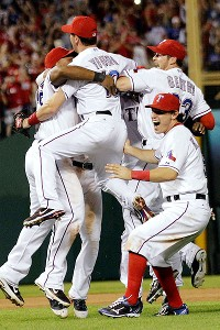 Texas Rangers celebrate