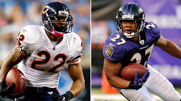 Matt Forte, Ray Rice