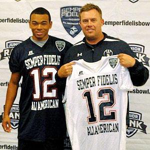 Bryce Treggs and coach Jason Negro