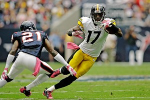 Brett Davis/US PRESSWIRE Steelers receiver Mike Wallace has a catch of