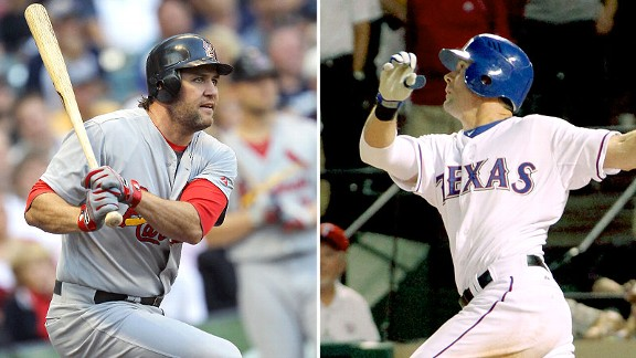 Lance Berkman and Michael Young