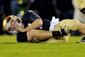 After Notre Dame's Tommy Rees went down with an injury, backup Dayne Crist's fumble sank the Irish.