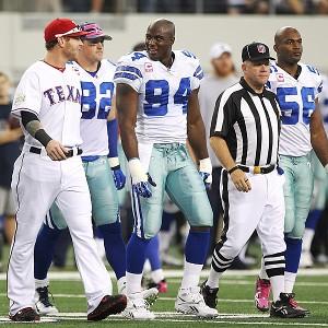 Josh Hamilton (Cowboys coin toss)