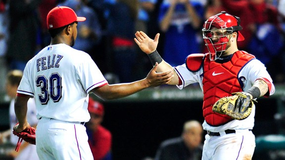 Neftali Feliz and Mike Napoli