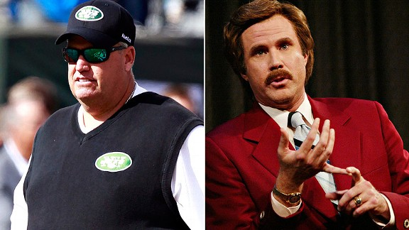 Rex Ryan and Ron Burgandy