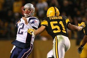 Tom Brady and James Farrior
