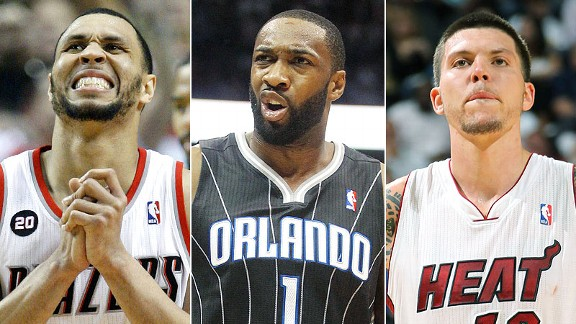 Brandon Roy, Gilbert Arenas and Mike Miller