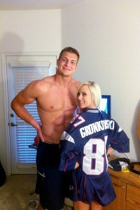 Rob Gronkowski with Bibi Jones