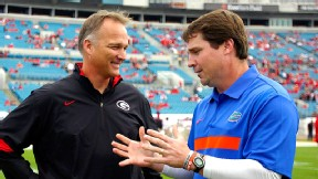 Mark Richt and Will Muschamp