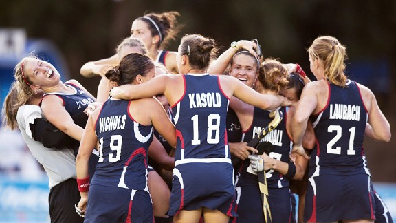 By keeping their poise, the U.S. field hockey team was able to hold off world champion Argentina and earn a berth in next year's Summer Olympics.