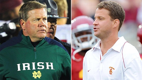 Brian Kelly and Lane Kiffin