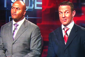 Merril Hoge and Antonio Pierce