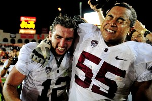 Stanford's Andrew Luck and Jonathan Martin