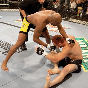 Anderson Silva and Chris Leben