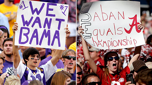 LSU/Alabama Fans