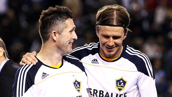 David Beckham and Robbie Keane