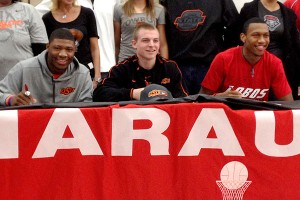 Marcus Smart, Phil Forte and Nick Banyard