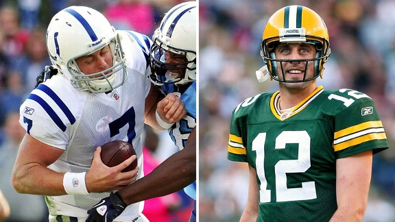 Curtis Painter, Aaron Rodgers