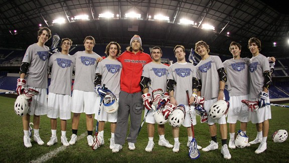High school lacrosse players join Paul Rabil