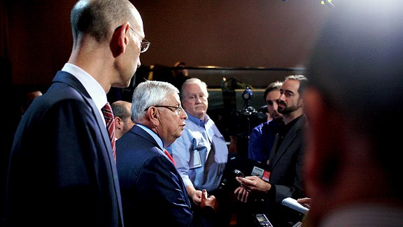 David Stern and Adam Silver