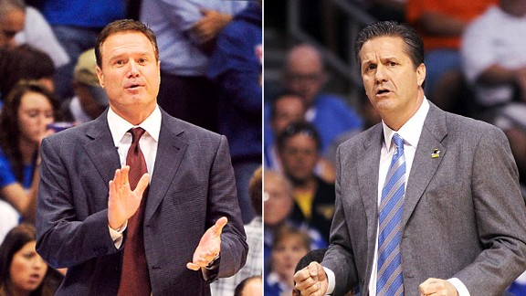 John Calipari and Bill Self